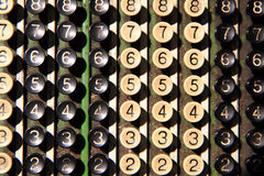 teclado velho da calculadora Fotos de Stock Royalty Free