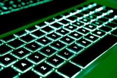Teclado verde imágenes de archivo libres de regalías