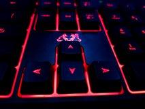 Teclado vermelho do diodo emissor de luz imagens de stock