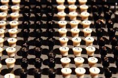 teclado viejo de la calculadora Imagen de archivo libre de regalías