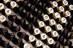 teclado viejo de la calculadora Fotografía de archivo