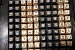 teclado viejo de la calculadora Imágenes de archivo libres de regalías