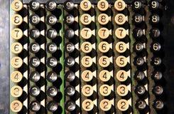 teclado viejo de la calculadora Fotografía de archivo libre de regalías