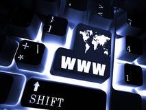 teclado WWW Imagen de archivo