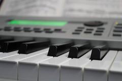 Teclado y música 02 Imágenes de archivo libres de regalías