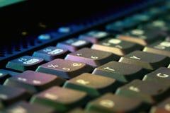 Teclado y ordenador Foto de archivo libre de regalías