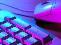 Teclado y ratón de ordenador fotos de archivo