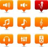 Teclas audio. Imagens de Stock Royalty Free