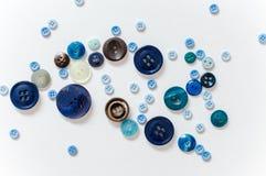Teclas azuis Imagem de Stock Royalty Free