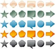 Teclas brilhantes para o Web Foto de Stock
