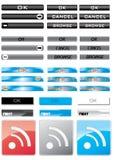 Botões coloridos ilustração stock