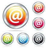 Teclas coloridas do email address. Fotografia de Stock Royalty Free