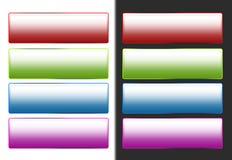 Teclas coloridas do Web Fotografia de Stock