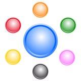 Teclas coloridas do Web Imagens de Stock Royalty Free