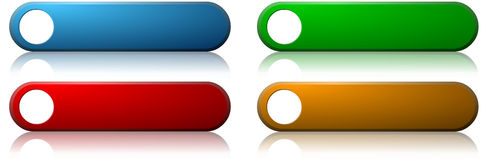 Teclas coloridas do Web Fotos de Stock