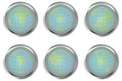 Teclas com globos da terra Fotos de Stock