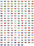 Teclas da bandeira do mundo Foto de Stock Royalty Free