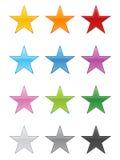 Teclas da estrela ilustração royalty free