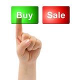 Teclas da mão e do negócio Imagens de Stock