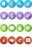 Teclas da operação bancária - cor 4 Fotos de Stock