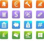 Teclas da operação bancária - quadrado dado forma Imagem de Stock Royalty Free