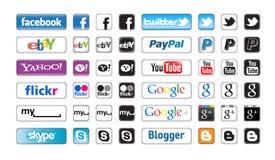 Teclas de Apps para a coligação social Foto de Stock