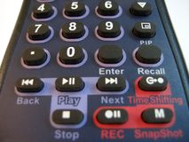 Teclas de controle remoto Imagem de Stock