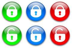 Teclas de fechamento ajustadas Imagens de Stock