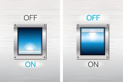 Teclas de interruptor DE LIGAR/DESLIGAR Imagem de Stock Royalty Free