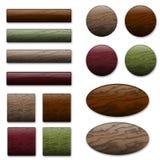 Teclas de madeira Imagens de Stock Royalty Free