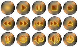 Teclas de Media Player Imagem de Stock