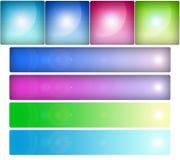 Teclas de vidro ajustadas Fotografia de Stock