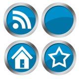 Teclas do azul do Web Imagens de Stock