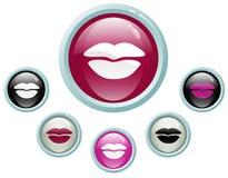 Teclas do beijo Imagens de Stock Royalty Free