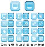 Teclas do computador da ferragem com efeito empurrado ilustração royalty free
