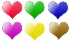 Teclas do coração Imagens de Stock Royalty Free