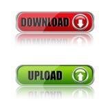 Teclas do Download ilustração royalty free
