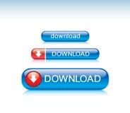 Teclas do Download Fotos de Stock