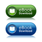 Teclas do download de Ebook Foto de Stock Royalty Free