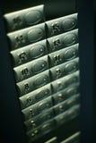 Teclas do elevador fotografia de stock