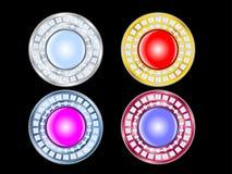 Teclas do encanto com diamantes Imagens de Stock