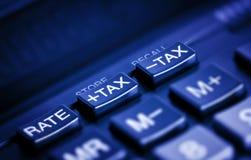 Teclas do imposto Imagem de Stock