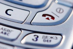Teclas do móbil Imagens de Stock