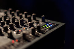 Teclas do misturador do DJ Fotos de Stock Royalty Free