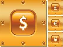Teclas do ouro Fotos de Stock Royalty Free