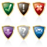 Teclas do protetor de Triangl ilustração royalty free