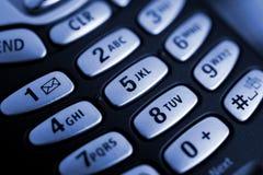 Teclas do telefone de pilha Fotografia de Stock