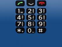 Teclas do telefone de pilha Imagem de Stock