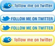 Teclas do Twitter ajustadas Imagem de Stock Royalty Free