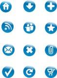 Teclas do Web ajustadas Imagens de Stock